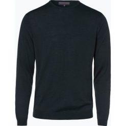 Finshley & Harding - Sweter męski z dodatkiem wełny merino, zielony. Czarne swetry klasyczne męskie marki Finshley & Harding, w kratkę. Za 129,95 zł.