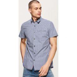 Koszula w drobną kratkę - Niebieski. Niebieskie koszule męskie w kratę House, l. Za 89,99 zł.