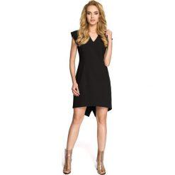 ALEXIS Sukienka smokingowa - czarna. Czarne sukienki hiszpanki Moe, z krótkim rękawem, mini, dopasowane. Za 119,00 zł.