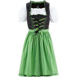 Sukienki hiszpanki: Sukienka ludowa z bluzką i fartuchem, dł. przed kolano bonprix czarno-zielony