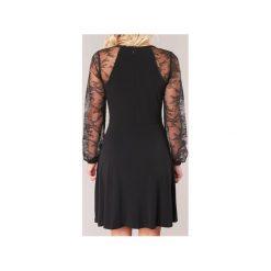 Sukienki krótkie MICHAEL Michael Kors  LACE SLV FIT FLR DRS. Sukienki małe czarne marki MICHAEL Michael Kors, m, z krótkim rękawem. Za 879,20 zł.