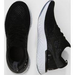 Nike Performance EPIC REACT FLYKNIT Obuwie do biegania treningowe black/dark grey/pure platinum. Czarne buty do biegania męskie Nike Performance, z materiału. Za 549,00 zł.