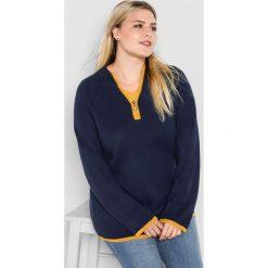 Swetry klasyczne damskie: Sweter w kolorze granatowym