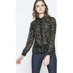 Vero Moda - Koszula Katinka. Czarne koszule wiązane damskie Vero Moda, s, z poliesteru, casualowe, z klasycznym kołnierzykiem, z długim rękawem. W wyprzedaży za 34,90 zł.