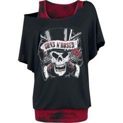 Guns N' Roses EMP Signature Collection Koszulka damska czarny/czerwony. Czarne bluzki damskie m, z nadrukiem, z materiału, z dekoltem na plecach. Za 144,90 zł.