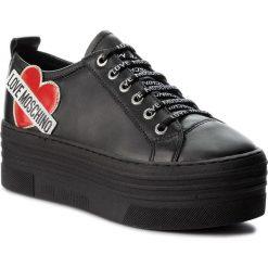Sneakersy LOVE MOSCHINO - JA15056G16IB0000  Nero. Czarne sneakersy damskie Love Moschino, z materiału. W wyprzedaży za 649,00 zł.