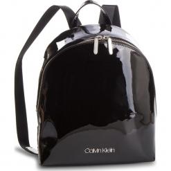 Plecak CALVIN KLEIN - Snap Sml Backpack P K60K604930 001. Czarne plecaki damskie Calvin Klein, ze skóry ekologicznej, eleganckie. Za 549,00 zł.