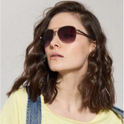 Okulary przeciwsłoneczne damskie: Okulary przeciwsłoneczne aviatorki – Czarny