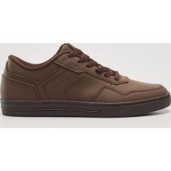 Buty skate męskie: Skórzane buty sportowe - Brązowy