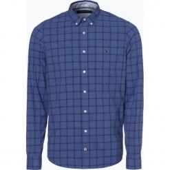 Tommy Hilfiger - Koszula męska, niebieski. Niebieskie koszule męskie na spinki TOMMY HILFIGER, m, z klasycznym kołnierzykiem. Za 399,95 zł.