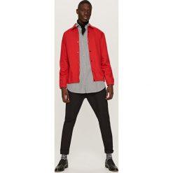 Koszule męskie na spinki: Koszula kurtkowa z grubszej bawełny – Czerwony