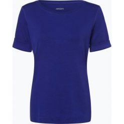 Marc Cain Sports - T-shirt damski, niebieski. Niebieskie t-shirty damskie Marc Cain Sports, z dżerseju, z klasycznym kołnierzykiem. Za 299,95 zł.