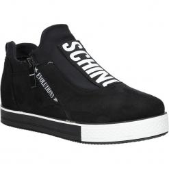 Czarne buty sportowe sneakersy na platformie z ozdobnym suwakiem Casu SG-61. Czarne sneakersy damskie Casu. Za 69,99 zł.