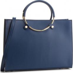 Torebka CREOLE - K10586 Granat. Niebieskie torebki klasyczne damskie Creole, ze skóry, duże. Za 359,00 zł.