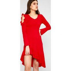 Miss Sixty - Sukienka. Szare długie sukienki Miss Sixty, na co dzień, s, z dzianiny, casualowe, z asymetrycznym kołnierzem, z długim rękawem, asymetryczne. W wyprzedaży za 499,90 zł.