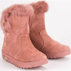 CIEPŁE RÓŻOWE ŚNIEGOWCE. Białe buty zimowe damskie marki Merg. Za 76,90 zł.