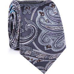 Krawat KWWR001777. Szare krawaty męskie Giacomo Conti, paisley, z mikrofibry, klasyczne. Za 69,00 zł.