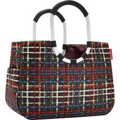 Shopper bag damskie: Torba z kolorowym wzorem na zakupy – 46 x 24,5 x 25 cm
