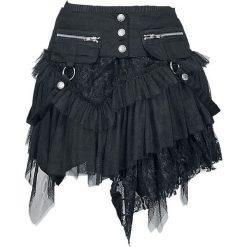 Spódniczki: KuroNeko Cat Skirt Spódnica Mini czarny