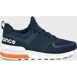 New Balance - Buty MS574PCN. Brązowe buty fitness męskie marki New Balance, z materiału, na sznurówki. Za 449,90 zł.
