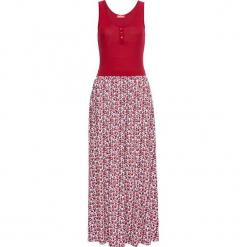 Długa sukienka shirtowa bonprix czerwony. Czerwone długie sukienki bonprix, z długim rękawem. Za 89,99 zł.
