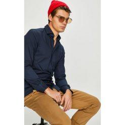Tommy Hilfiger Tailored - Koszula. Szare koszule męskie na spinki Tommy Hilfiger Tailored, m, z bawełny, z włoskim kołnierzykiem, z długim rękawem. Za 359,90 zł.