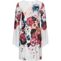 Sukienki: Sukienka w kwiaty bonprix biało-czerwony w kwiaty