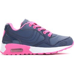 Granatowe Buty Sportowe Call By. Niebieskie buty sportowe dziewczęce marki Born2be, z materiału, z okrągłym noskiem, na sznurówki. Za 39,99 zł.