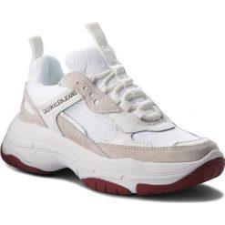 Sneakersy CALVIN KLEIN JEANS - Maya R0802 White. Białe sneakersy damskie Calvin Klein Jeans, z jeansu. Za 719,00 zł.