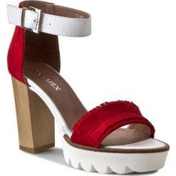 Rzymianki damskie: Sandały ANN MEX – 7482 14W+00S Czerwony
