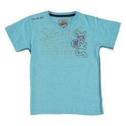 T-shirty chłopięce z nadrukiem: Koszulka w kolorze niebieskim