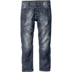 "Dżinsy Regular Fit Straight bonprix niebieski ""used"". Niebieskie jeansy męskie regular bonprix. Za 79,99 zł."