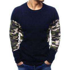 Swetry klasyczne męskie: Sweter męski granatowy (wx1035)