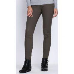 Spodnie damskie: Ciemnozielone Spodnie All Mind