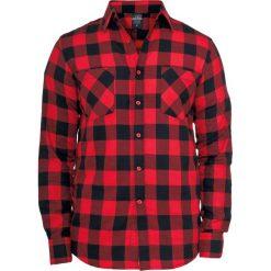 Urban Classics Koszula flanelowa w kratę Koszula czarny/czerwony. Czarne koszule męskie na spinki marki Urban Classics, s, z materiału, z koszulowym kołnierzykiem, z długim rękawem. Za 144,90 zł.
