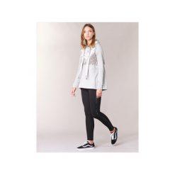 Bluzy Only  VELVET. Szare bluzy damskie marki ONLY, s, z bawełny, casualowe, z okrągłym kołnierzem. Za 125,30 zł.