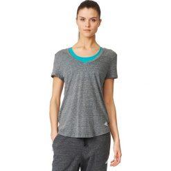 Adidas Koszulka damska Logo V-Tee grafitowa r. S (B28331). Szare topy sportowe damskie marki Adidas, l, z dresówki, na jogę i pilates. Za 94,95 zł.