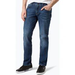 Tommy Hilfiger - Jeansy męskie – Denton, niebieski. Niebieskie jeansy męskie relaxed fit marki TOMMY HILFIGER. Za 549,95 zł.