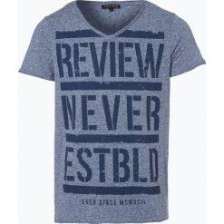 Review - T-shirt męski, niebieski. Niebieskie t-shirty męskie z nadrukiem Review, m. Za 39,95 zł.