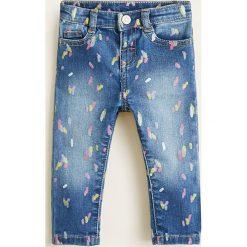 Mango Kids - Jeansy dziecięce Arien 80-104 cm. Niebieskie rurki dziewczęce marki Mango Kids, z bawełny. Za 79,90 zł.