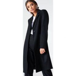 Płaszcze damskie pastelowe: Vanessa Moe x NA-KD Płaszcz – Black