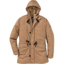 Kurtka parka Regular Fit bonprix koniakowy. Brązowe kurtki męskie marki LIGNE VERNEY CARRON, m, z bawełny. Za 239,99 zł.