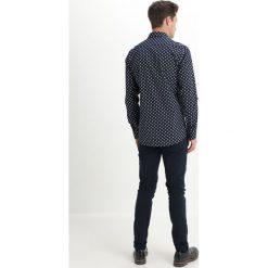 Koszule męskie na spinki: Eterna SLIM FIT HAI PRINT Koszula navy