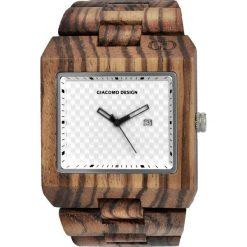 Zegarek Giacomo Design Drewniany męski GD08502. Brązowe zegarki męskie Giacomo Design. Za 415,00 zł.