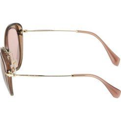 Okulary przeciwsłoneczne damskie aviatory: Miu Miu Okulary przeciwsłoneczne bordeaux