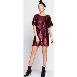 Bordowa Sukienka Hold You Down. Czerwone sukienki mini marki Mohito, l, z weluru. Za 119,99 zł.