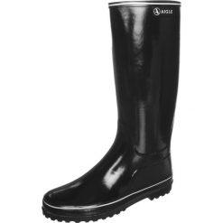 Aigle VENISE Kalosze noir / blanc. Czarne buty zimowe damskie Aigle, z kauczuku. W wyprzedaży za 242,10 zł.