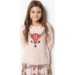 Blukids - Sweter dziecięcy 98-128 cm. Szare swetry klasyczne damskie Blukids, z dzianiny, z okrągłym kołnierzem. W wyprzedaży za 69,90 zł.