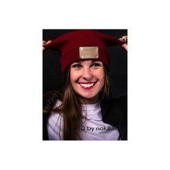 Czapka zimowa z blachą. Czerwone czapki zimowe damskie Nokaut costume, na zimę. Za 45,00 zł.