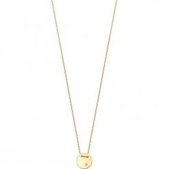 Pozłacany naszyjnik z diamentem - (D)39 cm. Żółte naszyjniki damskie marki METROPOLITAN, pozłacane. W wyprzedaży za 169,95 zł.